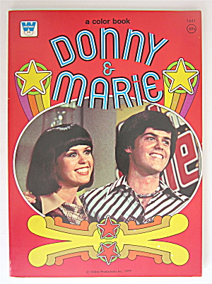 Donny & Marie Whitman Coloring Book 1977  (Image1)