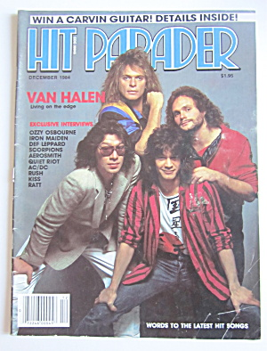 Hit Parader Magazine December 1984 Van Halen