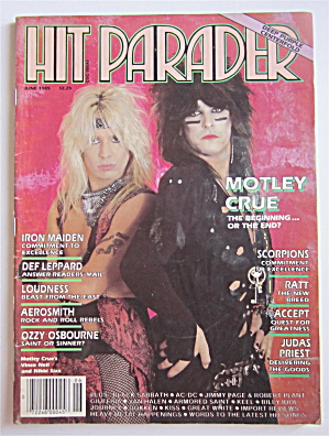 Hit Parader Magazine June 1985 Motley Crue