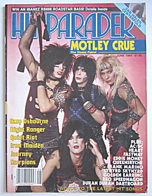 Hit Parader Magazine June 1984 Motley Crue