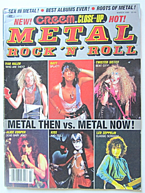 Metal Rock 'n' Roll Magazine March 1985 Motley Crue