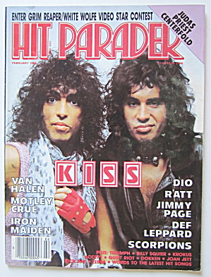 Hit Parader Magazine February 1985 Kiss