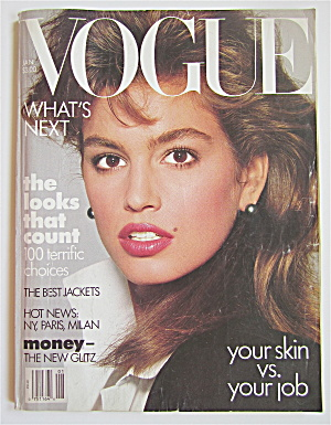 Vogue Magazine January 1987 Cindy Crawford