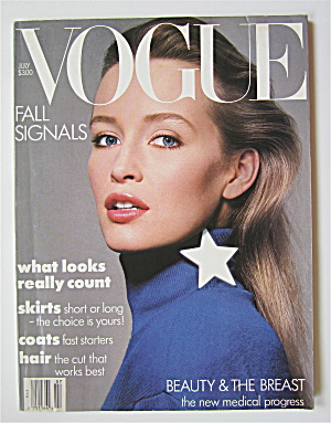 Vogue Magazine July 1986 Estelle Lefebure