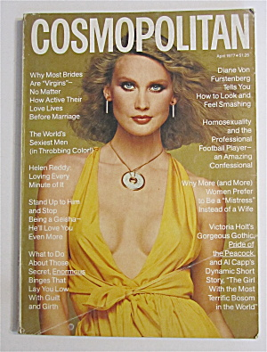 Cosmopolitan Magazine April 1977 Helen Reddy