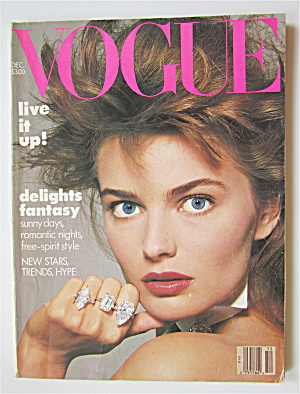 Vogue Magazine December 1986 Paulina Porizkova