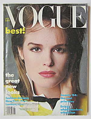 Vogue Magazine January 1984 Jacki Adams