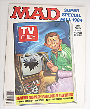 Mad Magazine Fall 1984 Mad Look At Television