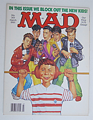 Mad Magazine March 1991 We Block Out The New Kids