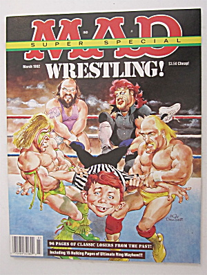 Mad Magazine March 1992 Wrestling