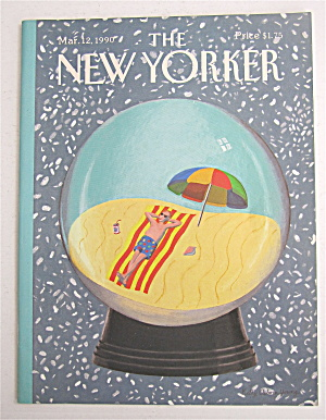 New Yorker Magazine March 12, 1990 Snow Globe