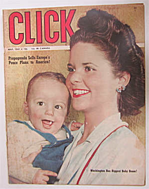 Click Magazine May 1943 Washington Has Baby Boom