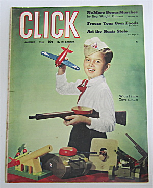 Click Magazine January 1944 Wartime Toys