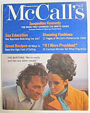 Mccall's Magazine January 1968 The Burtons