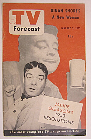 Tv Forecast January 3, 1953 Jackie Gleason