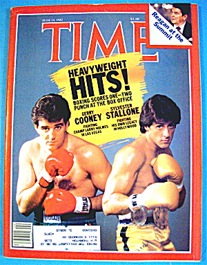 Time Magazine-june 14, 1982-gerry Cooney/sly Stallone