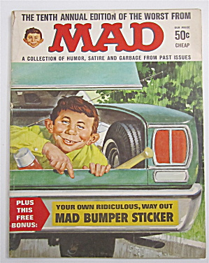 Mad Magazine 1967 Mad Bumper Sticker