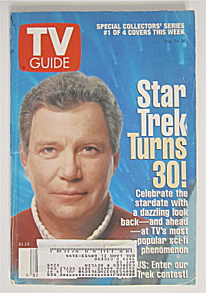 Tv Guide August 24-30, 1996 William Shatner (Kirk)