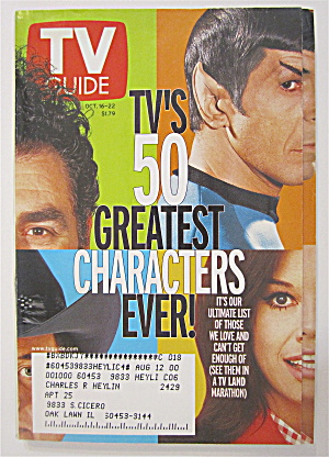 Tv Guide October 16-22, 1999 Tv's 50 Greatest Character