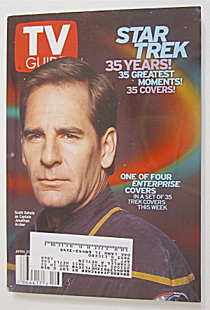 Tv Guide April 20-26, 2002 Star Trek (35 Years)