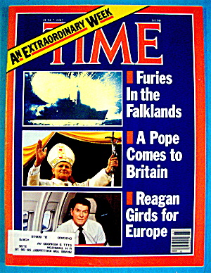 Time Magazine-june 7, 1982-falklands, Pope & Reagan