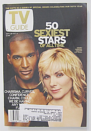 Tv Guide September 28-october 4, 2002 50 Sexy Stars
