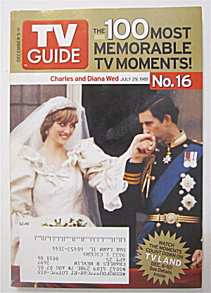 Tv Guide December 5-11, 2004 Charles & Diana Wed
