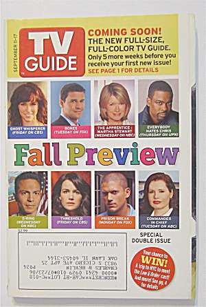 Tv Guide September 11-17, 2005 Fall Preview