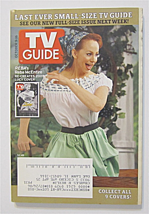 Tv Guide October 9-16, 2005 Reba Re Creates Lucy