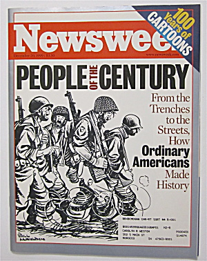 Newsweek Magazine-december 20, 1999-people Of Century