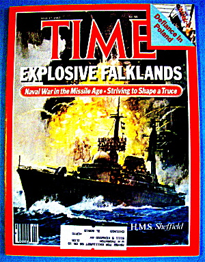 Time Magazine-may 17, 1982-explosive Falklands