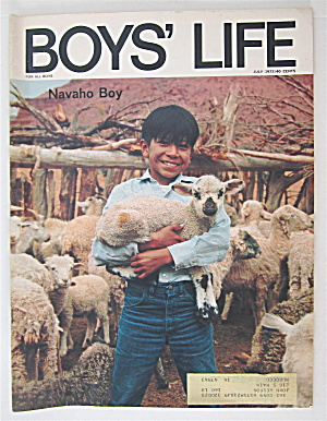 Boys Life Magazine July 1972 Navaho Boy