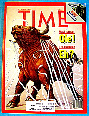 Time Magazine-september 6, 1982-wall Street: Ole