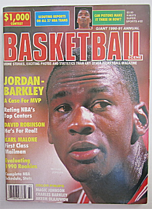 Basketball Scene Magazine 1990-1991 Jordan-barkley