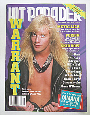 Hit Parader Magazine November 1990 Warrant