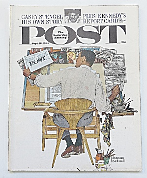 Saturday Evening Post September 16, 1961 Casey Stengel