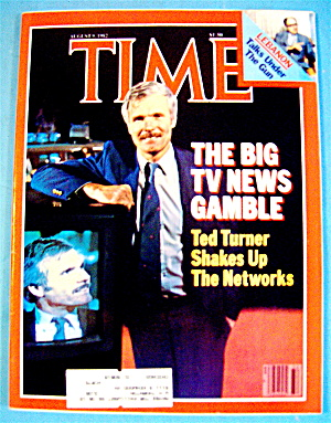Time Magazine-august 9, 1982-ted Turner