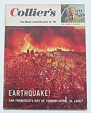 Collier's Magazine March 30, 1956 Earthquake