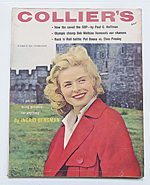 Collier's Magazine October 26, 1956 Ingrid Bergman