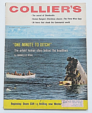 Colliers Magazine December 21, 1956 One Minute To Ditch