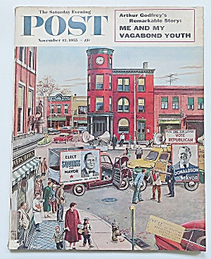 Saturday Evening Post November 12, 1955 Arthur Godfrey