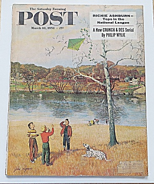 Saturday Evening Post March 10, 1956 Richie Ashburn