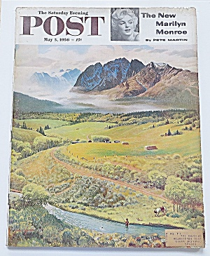 Saturday Evening Post May 5, 1956 Marilyn Monroe