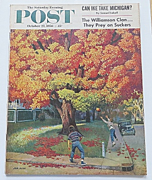 Saturday Evening Post October 27 1956 Ike Take Michigan
