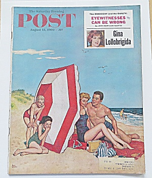 Saturday Evening Post August 13, 1960 Gina Lollobrigida