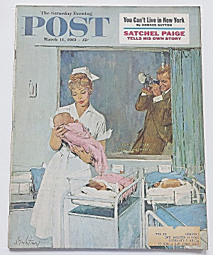 Saturday Evening Post March 11, 1961 Satchel Paige (Image1)