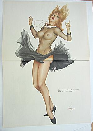 Alberto Vargas Pin Up Girl September 1966 Lady In Black (Image1)
