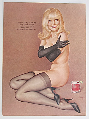 Alberto Vargas Pin Up Girl March 1967 Lady Bloody Mary