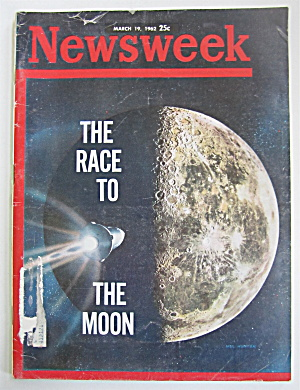 Newsweek Magazine March 19, 1962 Race To Moon