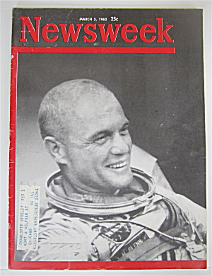 Newsweek Magazine March 5, 1962 John Glenn